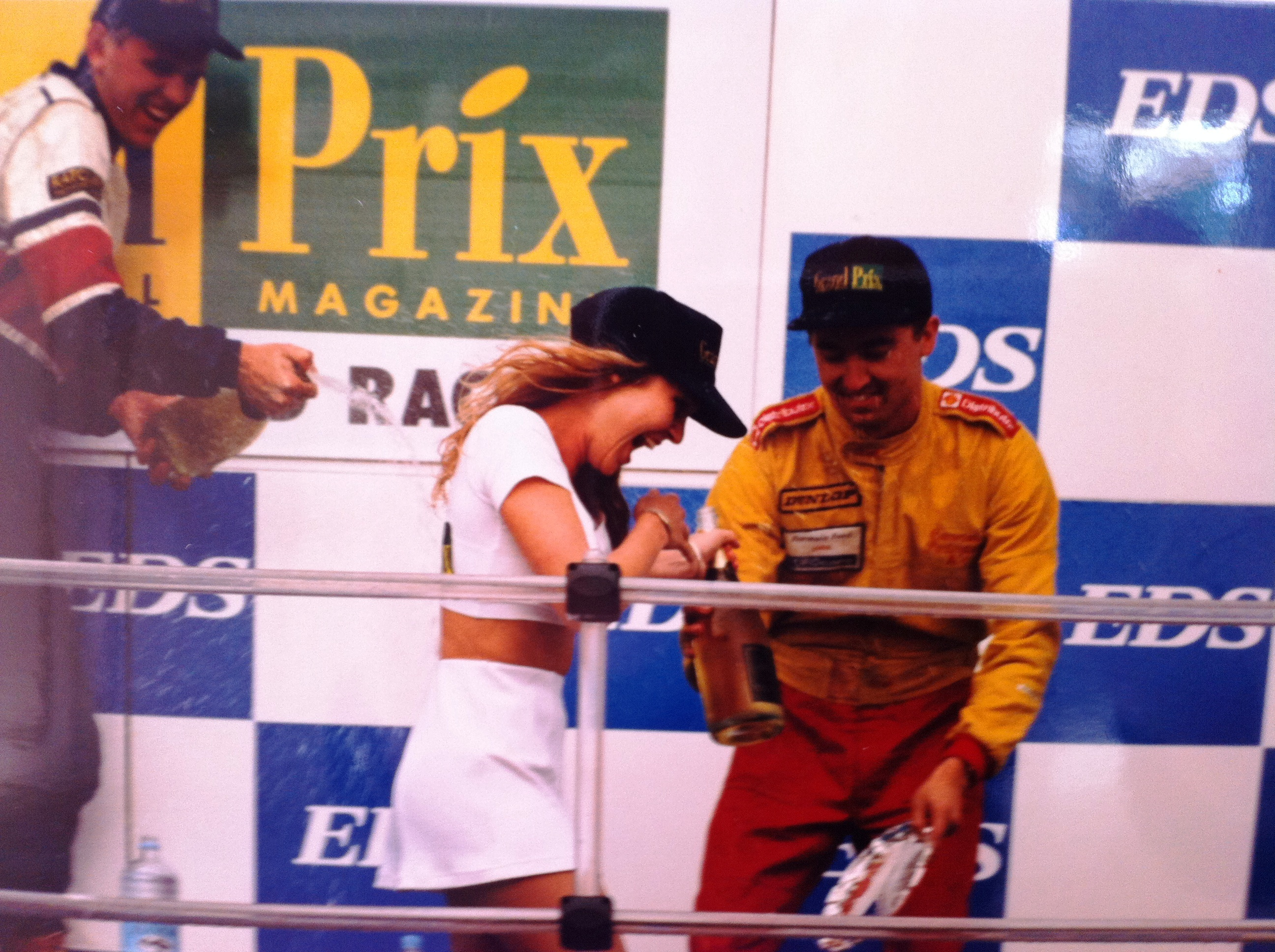 "stint as a ""grid girl""!"