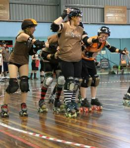 Ballarat blockers (in brown)