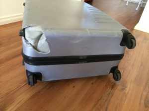 My suitcase was a little worse for wear